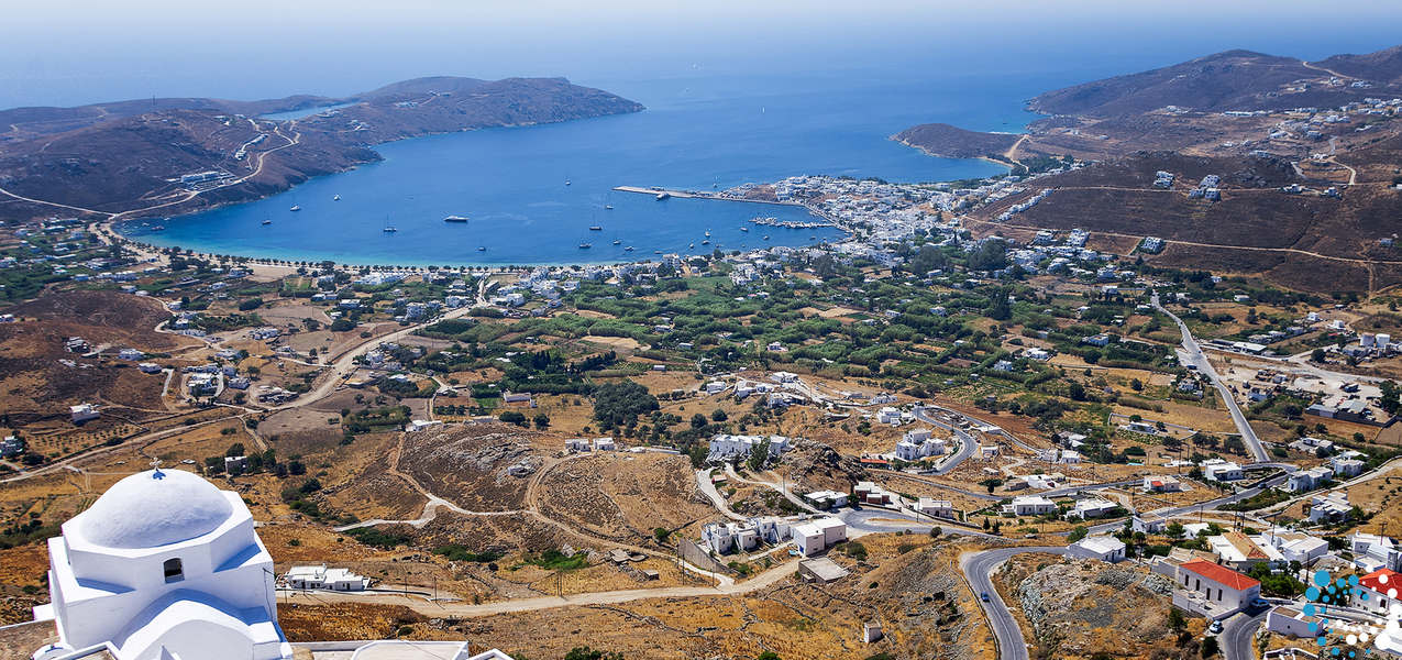 Medium thumb view from top of a hill in serifos island
