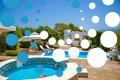 Thumb the pools and villa