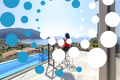 Thumb villa maria vasiliki lefkada lefkas accommodation girl having beverage over pool area